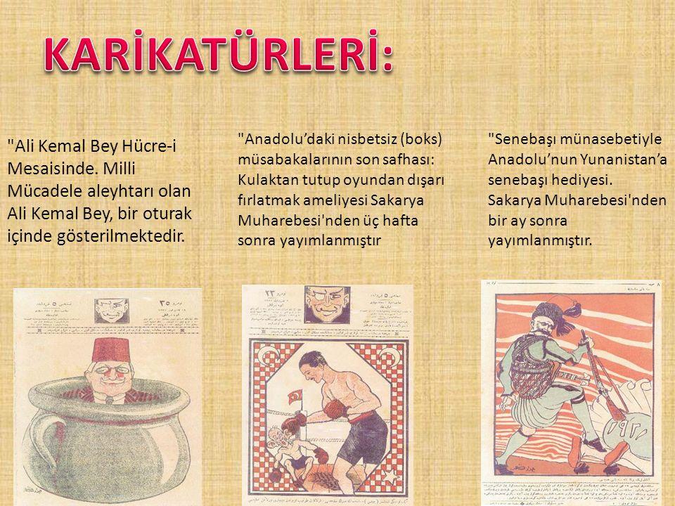 Ali Kemal Bey Hücre-i Mesaisinde.