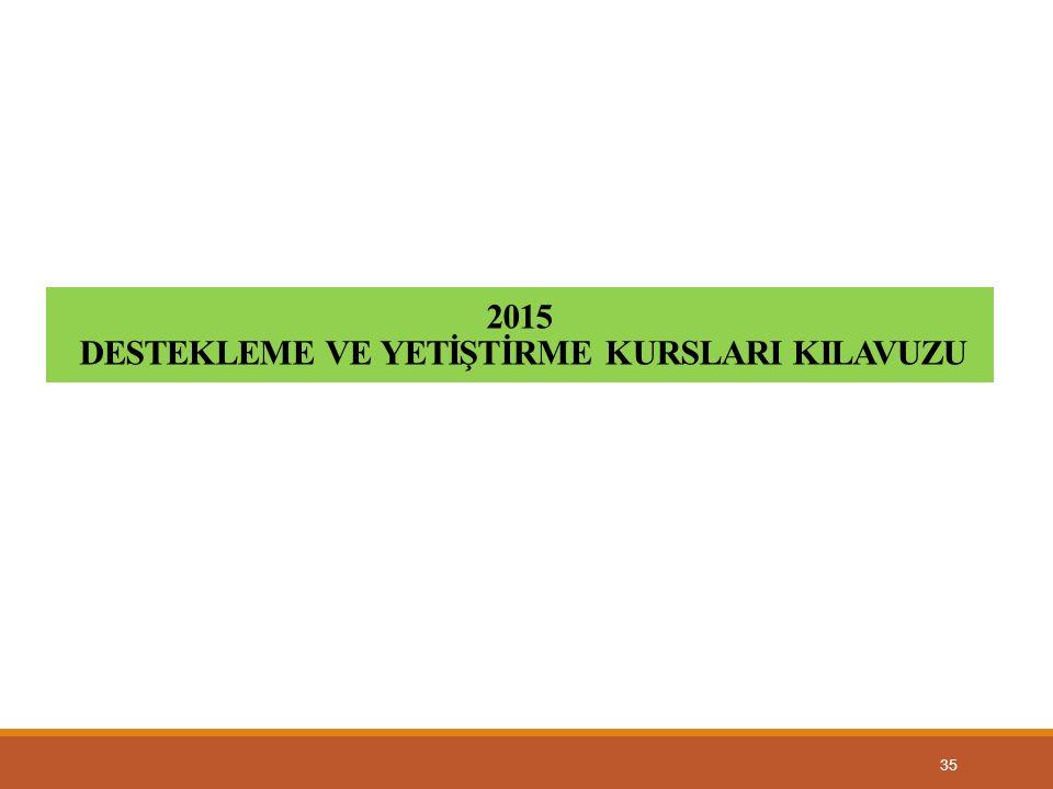35 2015 DESTEKLEME VE YETİŞTİRME KURSLARI KILAVUZU