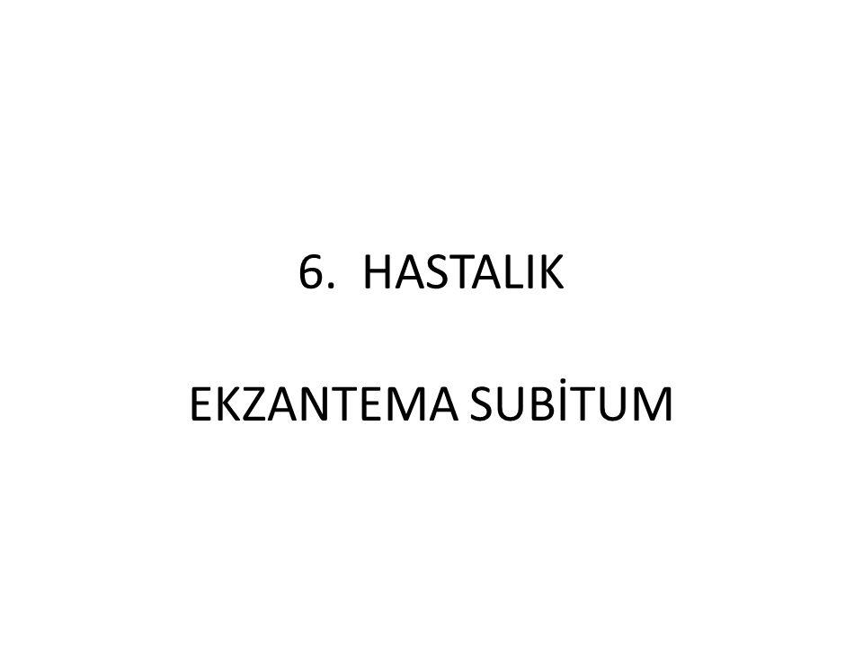 6. HASTALIK EKZANTEMA SUBİTUM