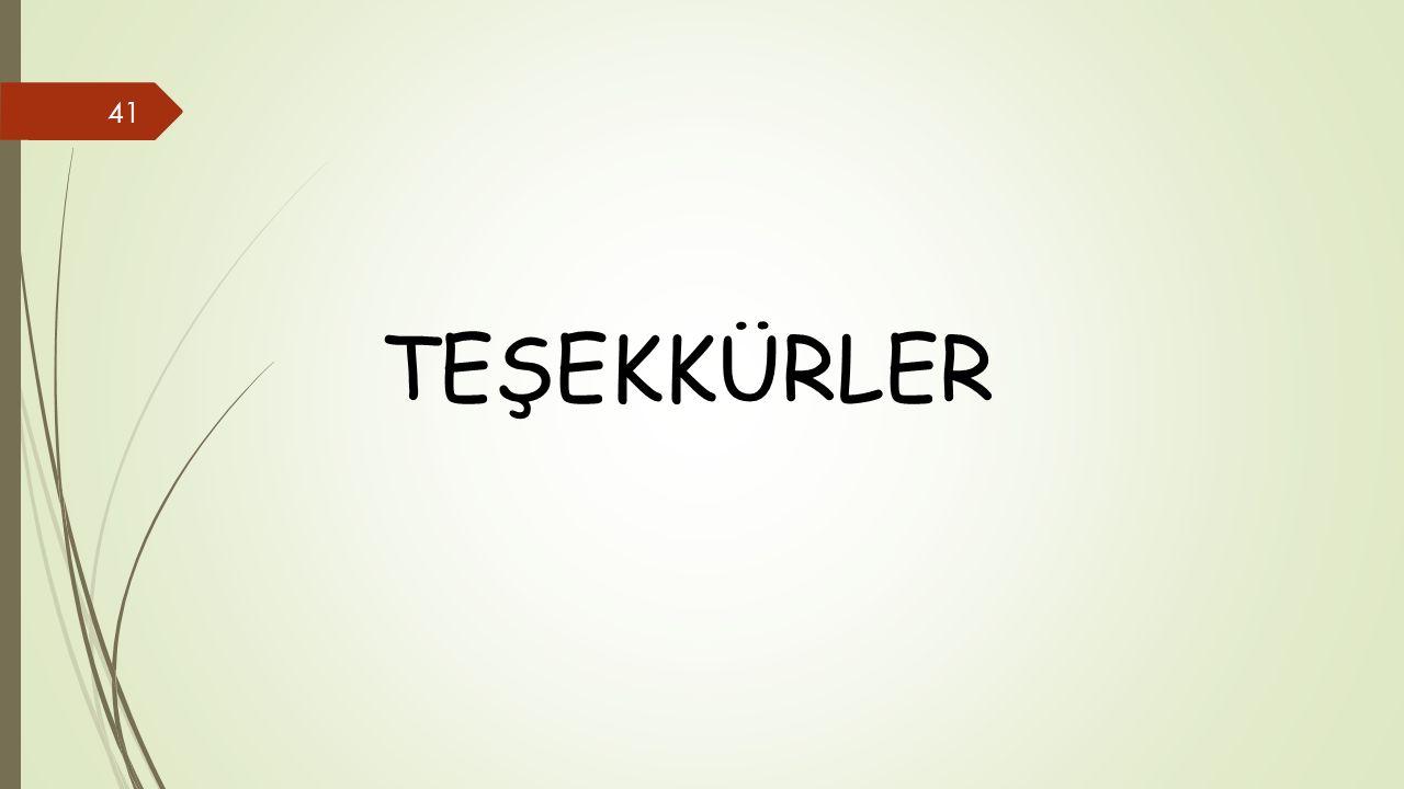 TEŞEKKÜRLER 41