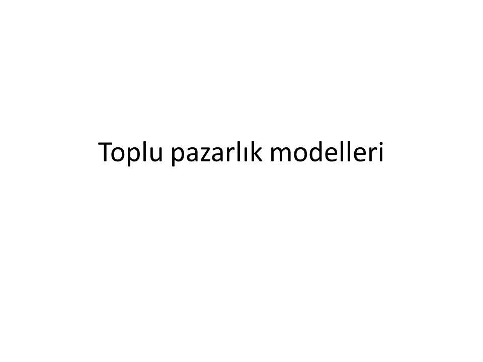 Toplu pazarlık modelleri