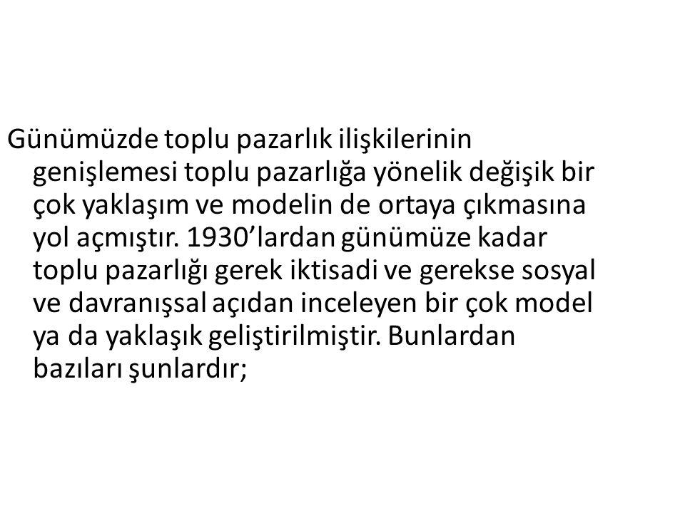 İkili tekel modeli Tekel sendika modeli, sadece belirli işkollarında ve belirli dönemlerde gerçekleşmiştir.