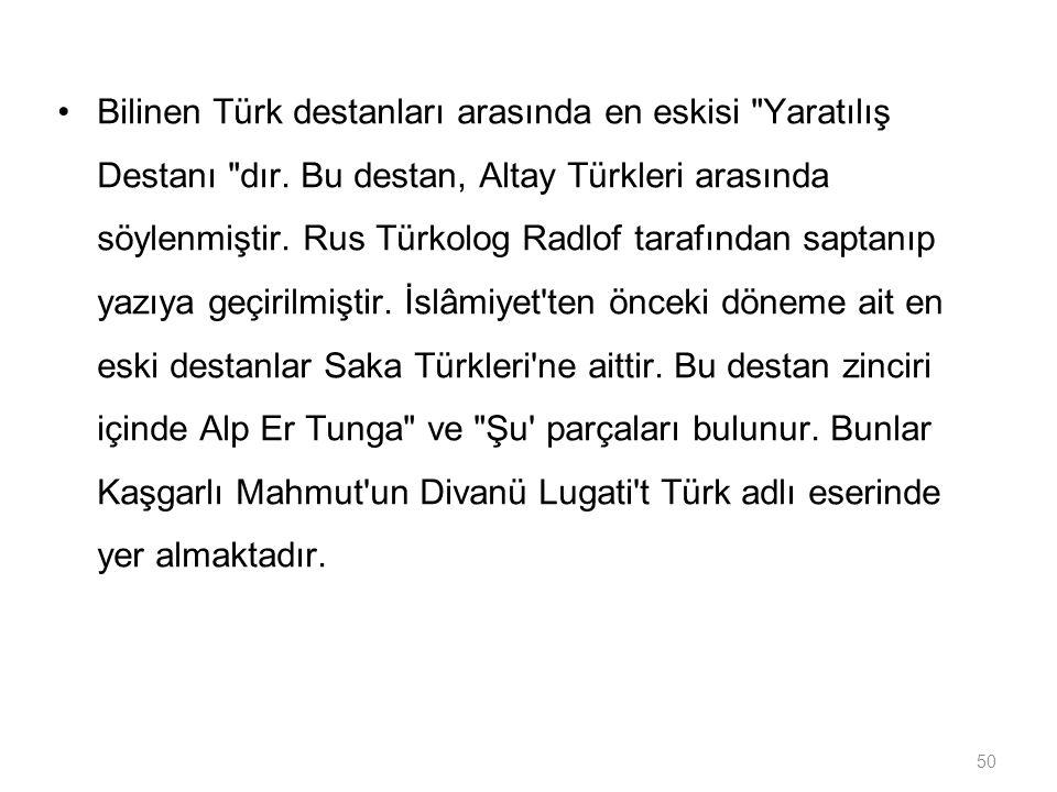 50 Bilinen Türk destanları arasında en eskisi