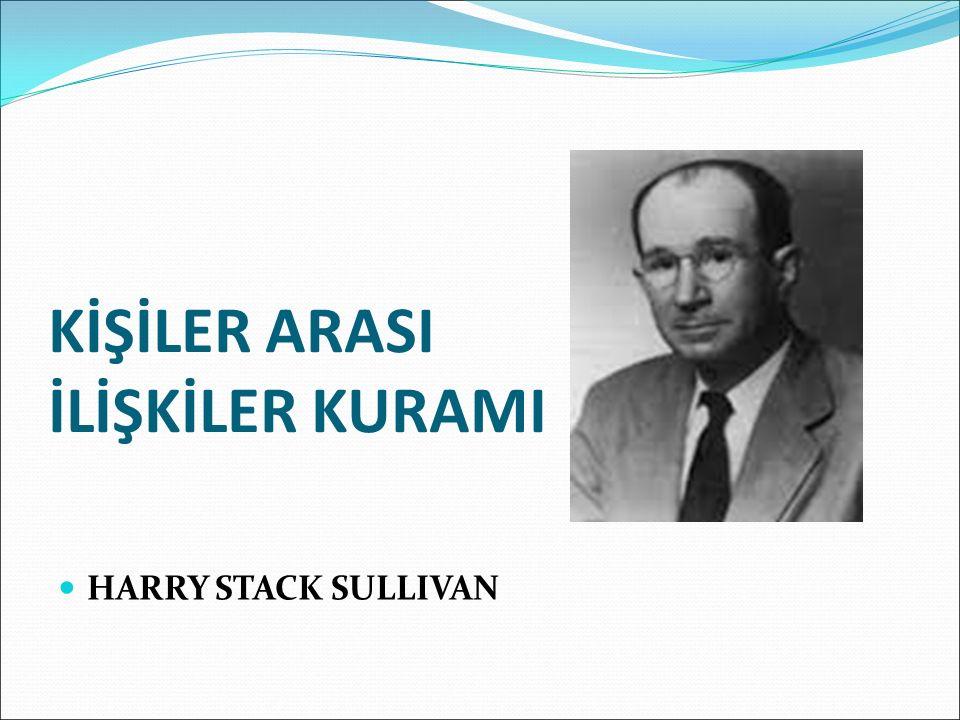 Temel Kavramlar ve İlkeler Harry Stack Sullivan, kişiliğin, sosyal bir çevrede geliştiğini belirtmiş ve insanların, diğer insanlar olmadan bir kişiliğe sahip olamayacaklarını iddia etmiştir.