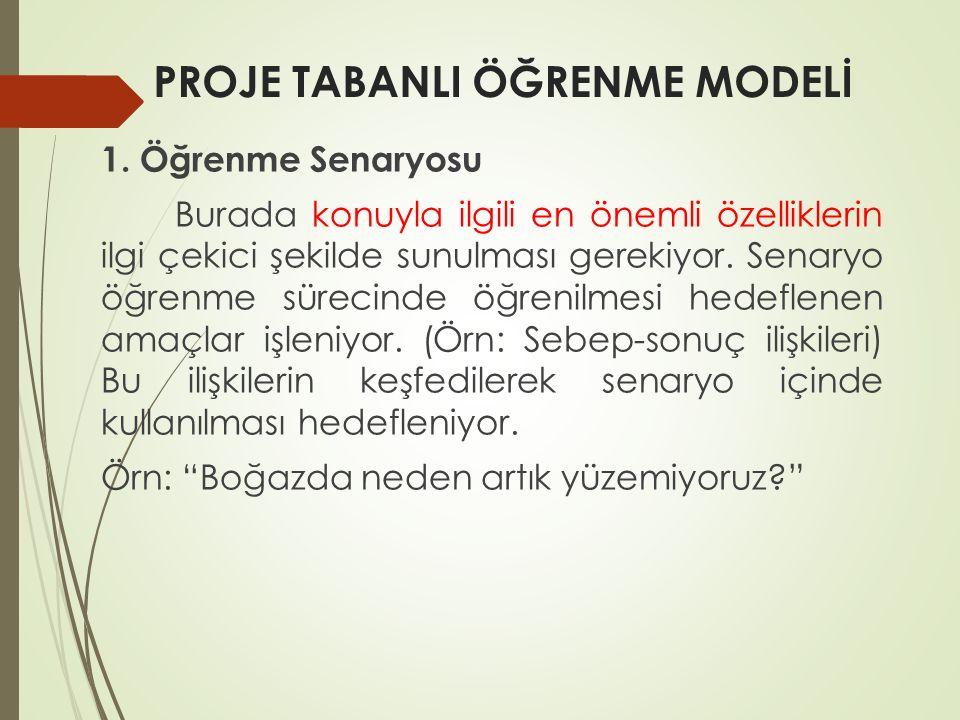 PROJE TABANLI ÖĞRENME MODELİ 1.