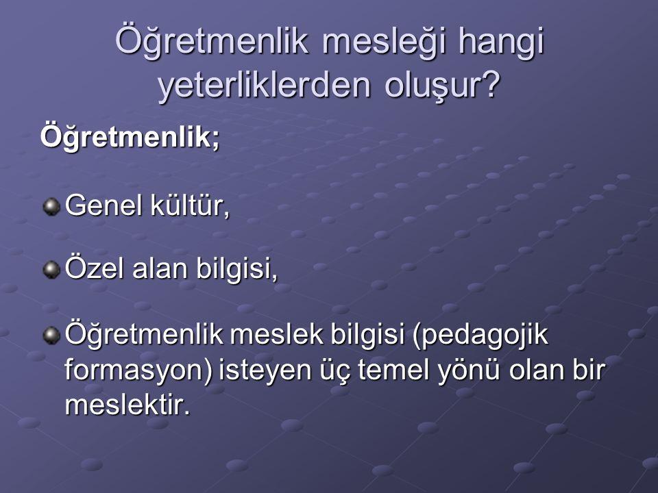 Yaman, Yaman ve Eskicumalı (2000): Eğitim Fakültesi ile ilgili bir araştırma sonuçları: Öğretmenlik mesleğini kız öğrenciler daha çok tercih etmektedirler.