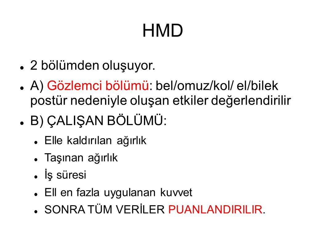HMD 2 bölümden oluşuyor.