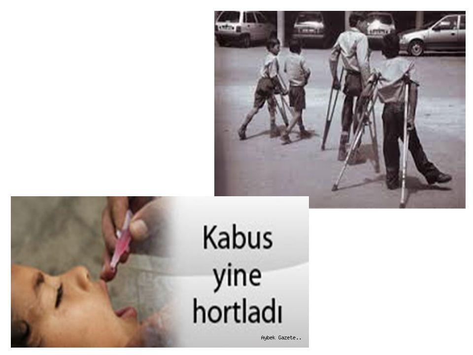 ETKEN Poliomyelit virüsü 3 Antijenik tipi vardır