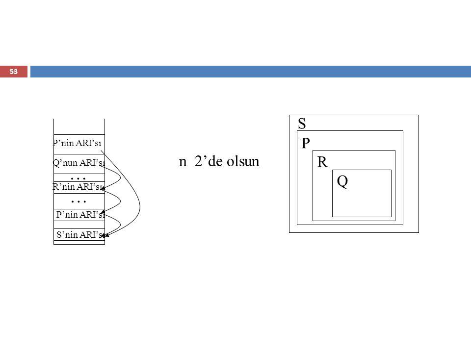 Bloklar  Bloklar, değişkenler için kullanıcı odaklı yerel ölçeklerdir.