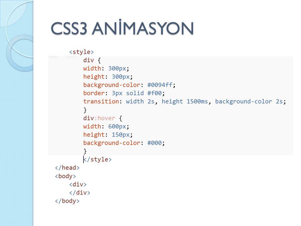 CSS3 AN İ MASYON