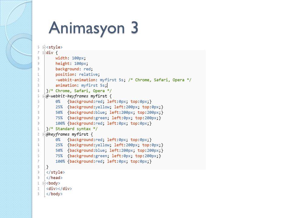 Animasyon 3