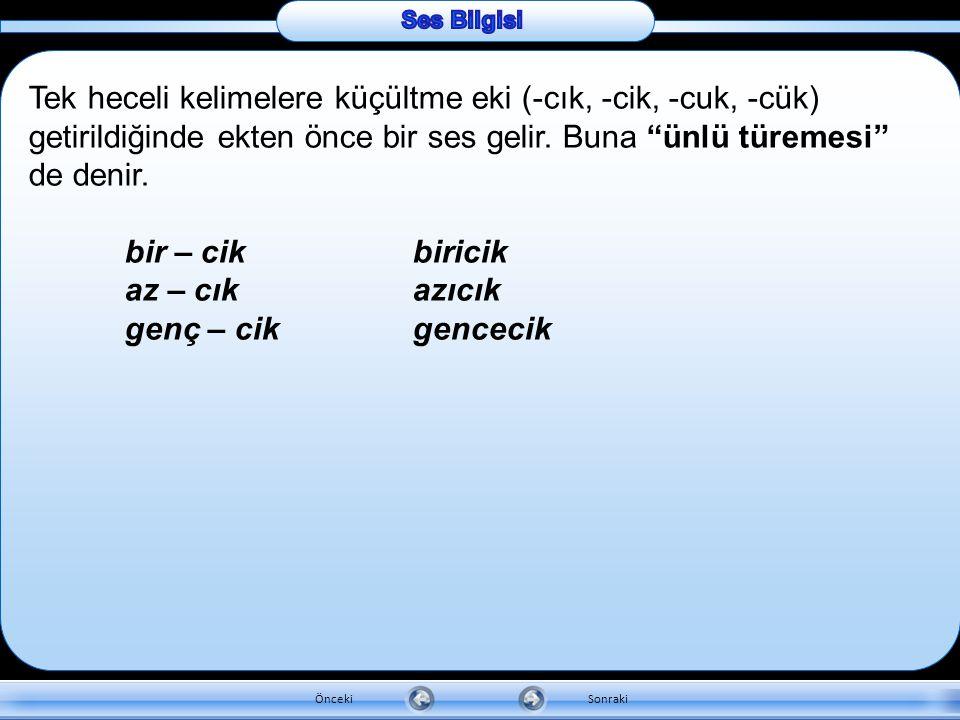 d. Ses Türemesi Değişik sebeplerden dolayı Türkçe bir kelimeye aslında olmadığı hâlde ses ilâvesi olur. Bu olaya ses türemesi denir. Yardımcı fiillerl