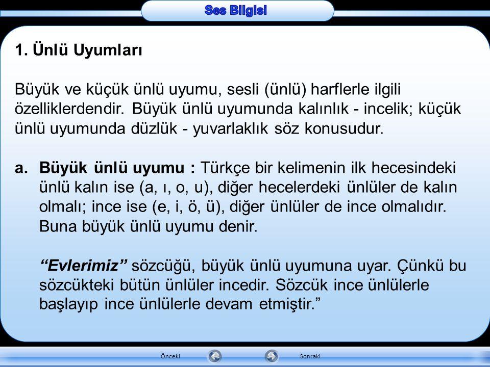 Ünsüz harflerin bazı özellikleri vardır:  Türkçe sözcüklerin başında iki ünsüz bulunmaz. Bulunanlar başka dillerden geçmiştir: Plân, spor…  Türkçe s