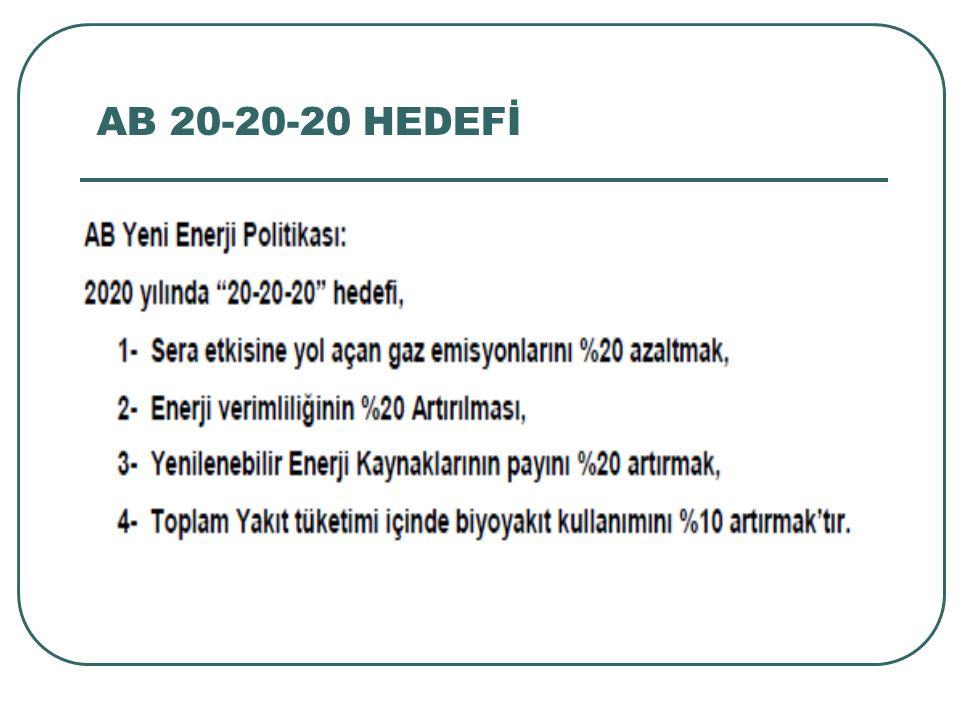 AB 20-20-20 HEDEFİ