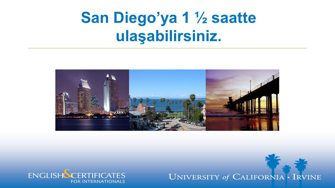 San Diego'ya 1 ½ saatte ulaşabilirsiniz.