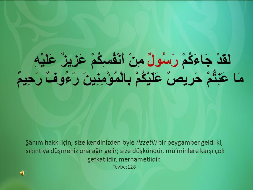 Şânım hakkı için, size kendinizden öyle (izzetli) bir peygamber geldi ki, sıkıntıya düşmeniz ona ağır gelir; size düşkündür, mü'minlere karşı çok şefk