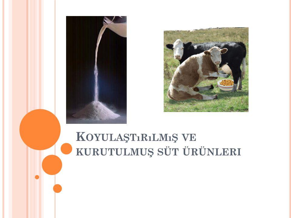 Yağlı veya yağsız kondens süt çeşitleri ya sterilizasyonla veya şeker ilavesi ile dayanıklı hale getirilmektedir.