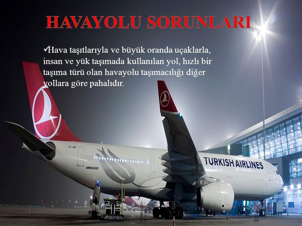 Hava taşıtlarıyla ve büyük oranda uçaklarla, insan ve yük taşımada kullanılan yol, hızlı bir taşıma türü olan havayolu taşımacılığı diğer yollara göre