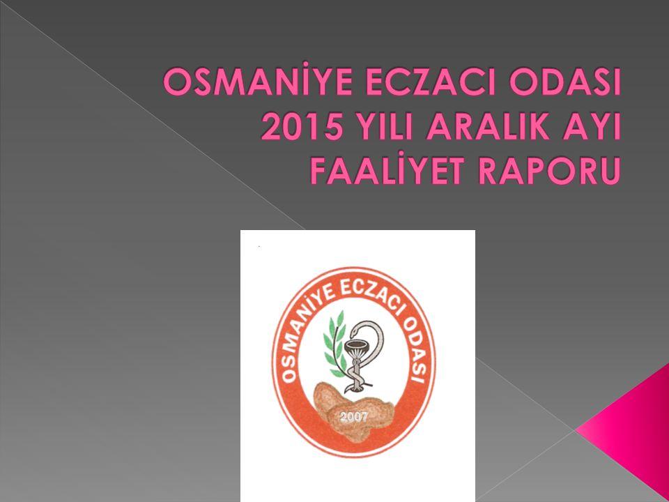  Ankara'da gerçekleşen 40.Seçimli Olağan Kongreye; oda yönetim kurulu, delegeler, denetleme kurulu ve diğer meslektaşlarımız katıldılar.Osmaniye Eczacı Odası olarak kongreye önergelerimizi sunduk, toplam 4 önergemiz kongrede kabul edildi.