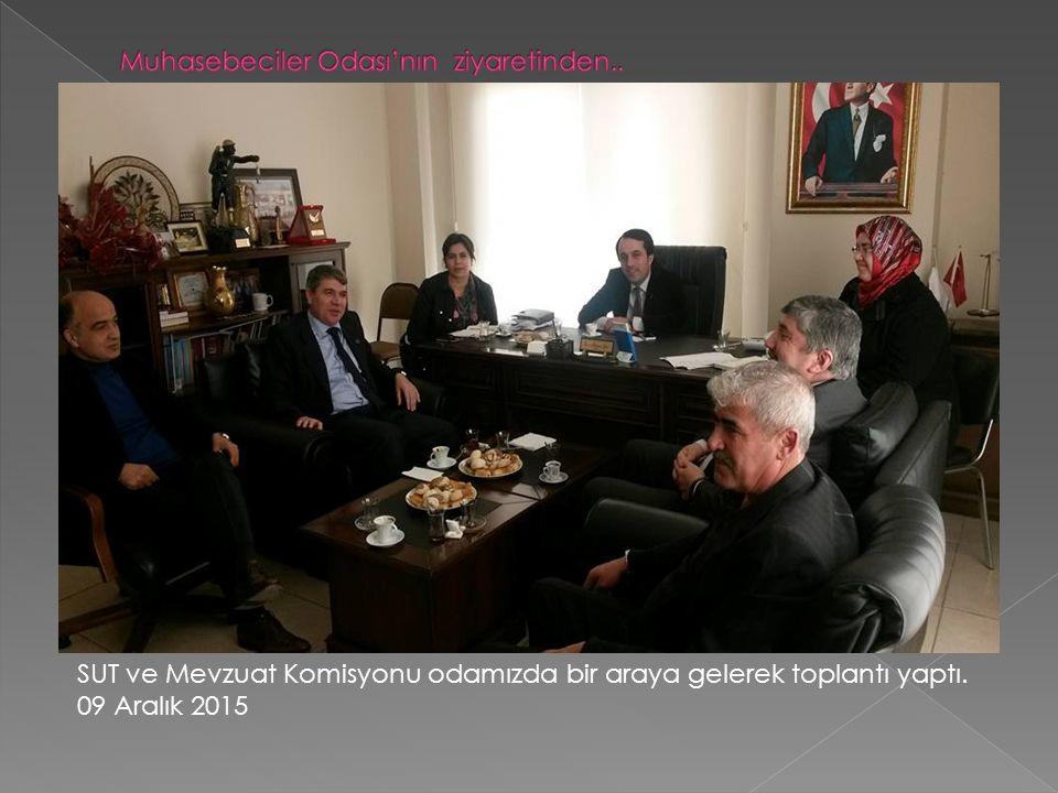 SUT ve Mevzuat Komisyonu odamızda bir araya gelerek toplantı yaptı. 09 Aralık 2015