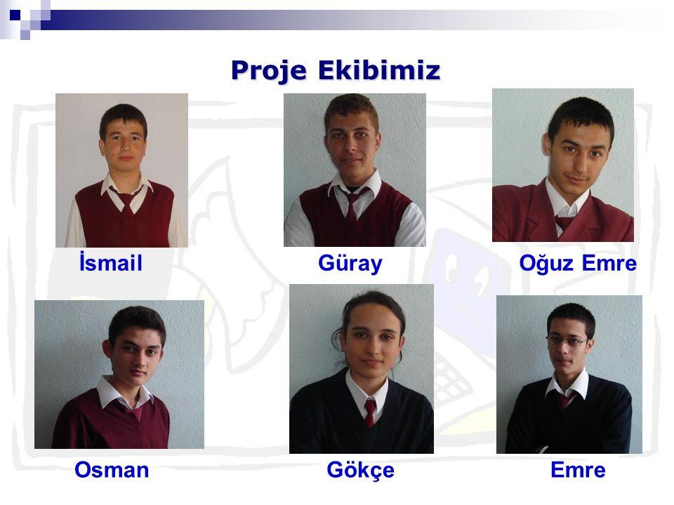 Proje Ekibimiz OsmanGökçeEmre İsmailGürayOğuz Emre