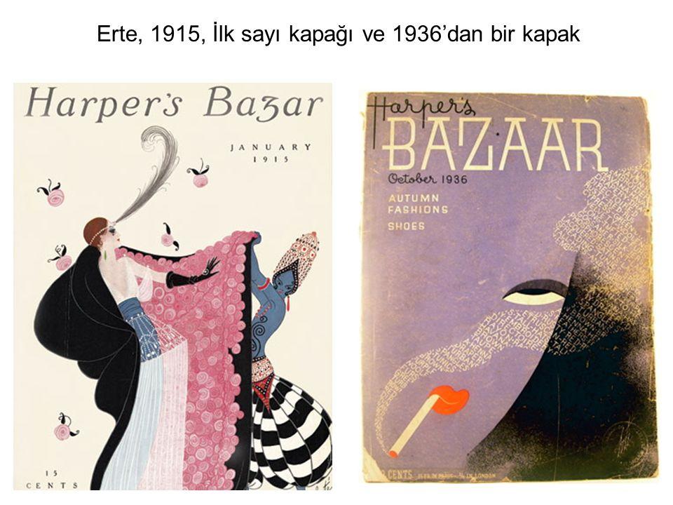 Erte, 1915, İlk sayı kapağı ve 1936'dan bir kapak