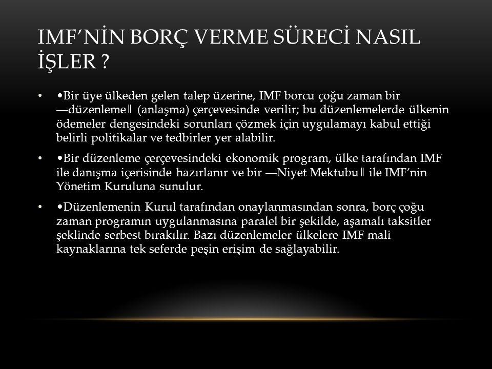 IMF'NİN BORÇ VERME SÜRECİ NASIL İŞLER .