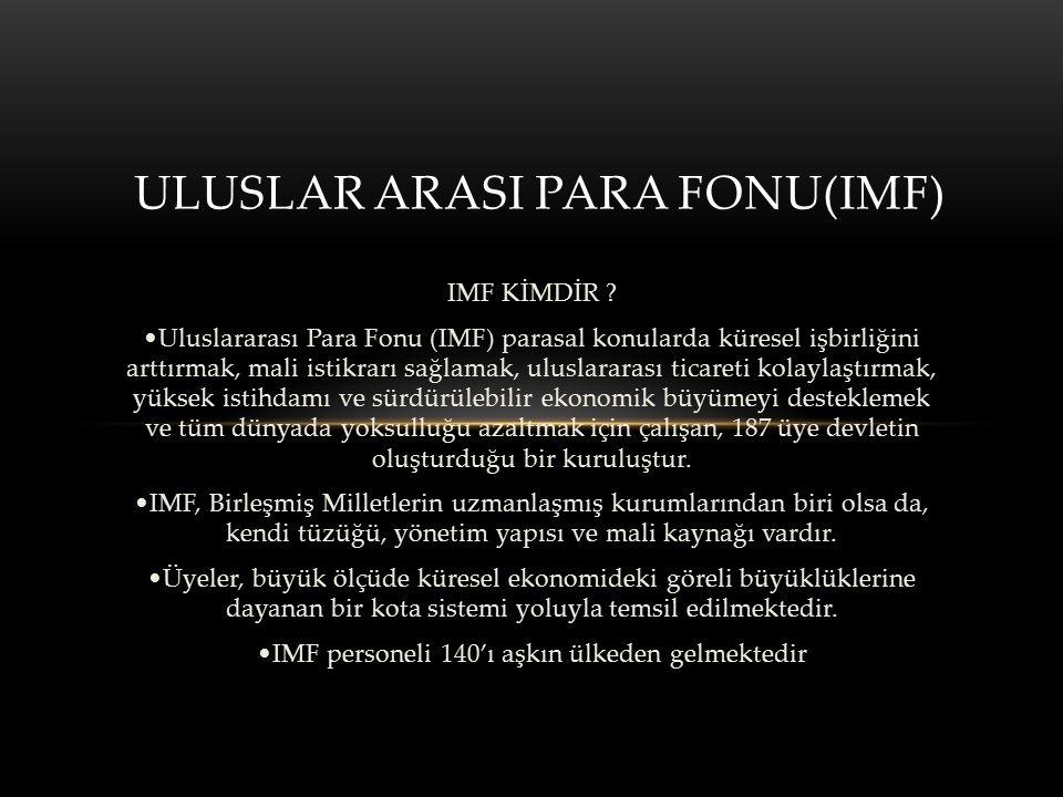 IMF KİMDİR .
