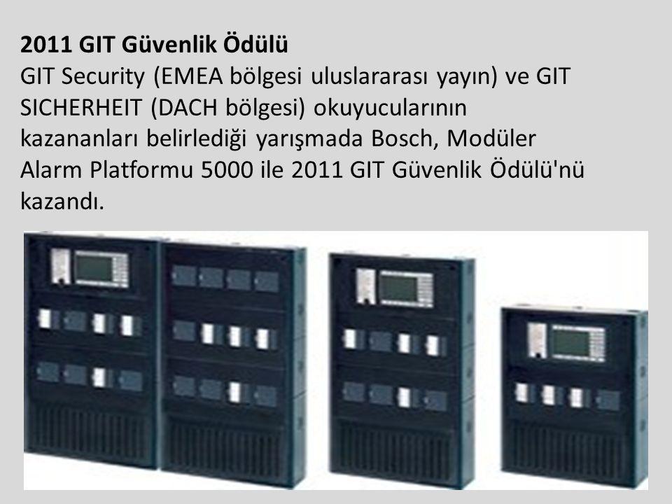 2011 GIT Güvenlik Ödülü GIT Security (EMEA bölgesi uluslararası yayın) ve GIT SICHERHEIT (DACH bölgesi) okuyucularının kazananları belirlediği yarışma