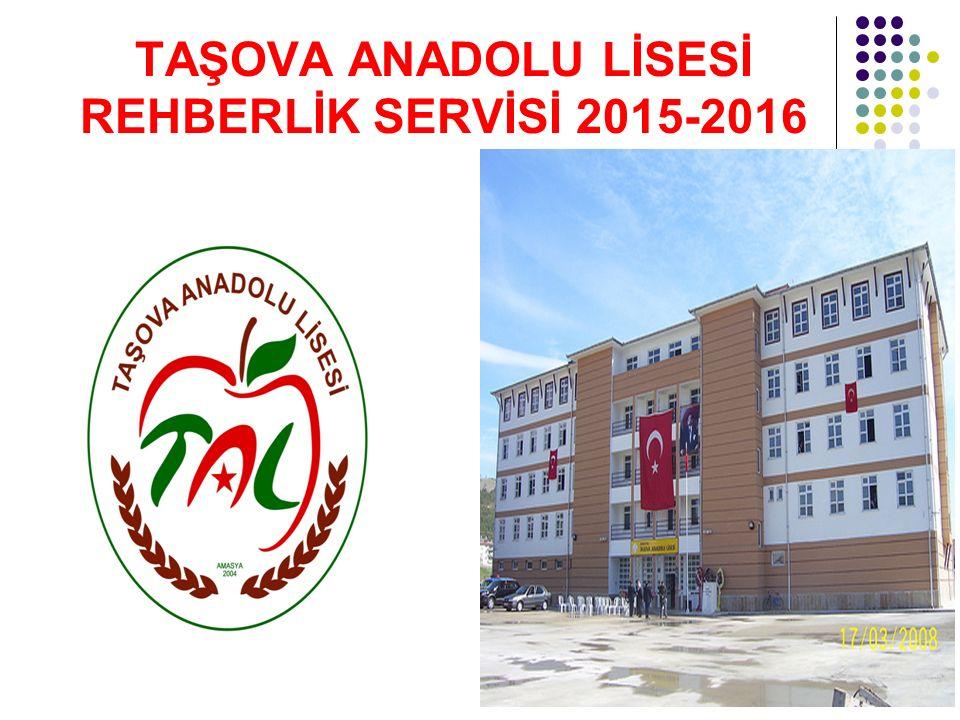 TAŞOVA ANADOLU LİSESİ REHBERLİK SERVİSİ 2015-2016
