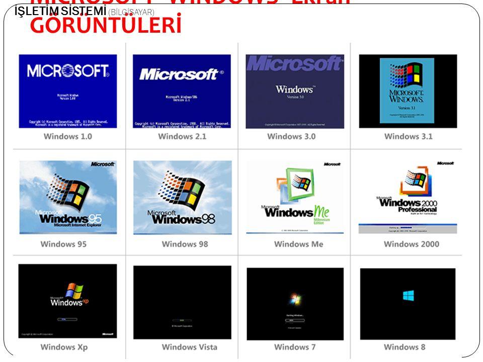 MİCROSOFT- WİNDOWS- Ekran GÖRÜNTÜLERİ En son Windows 10 piyasaya çıkmı ş tır.