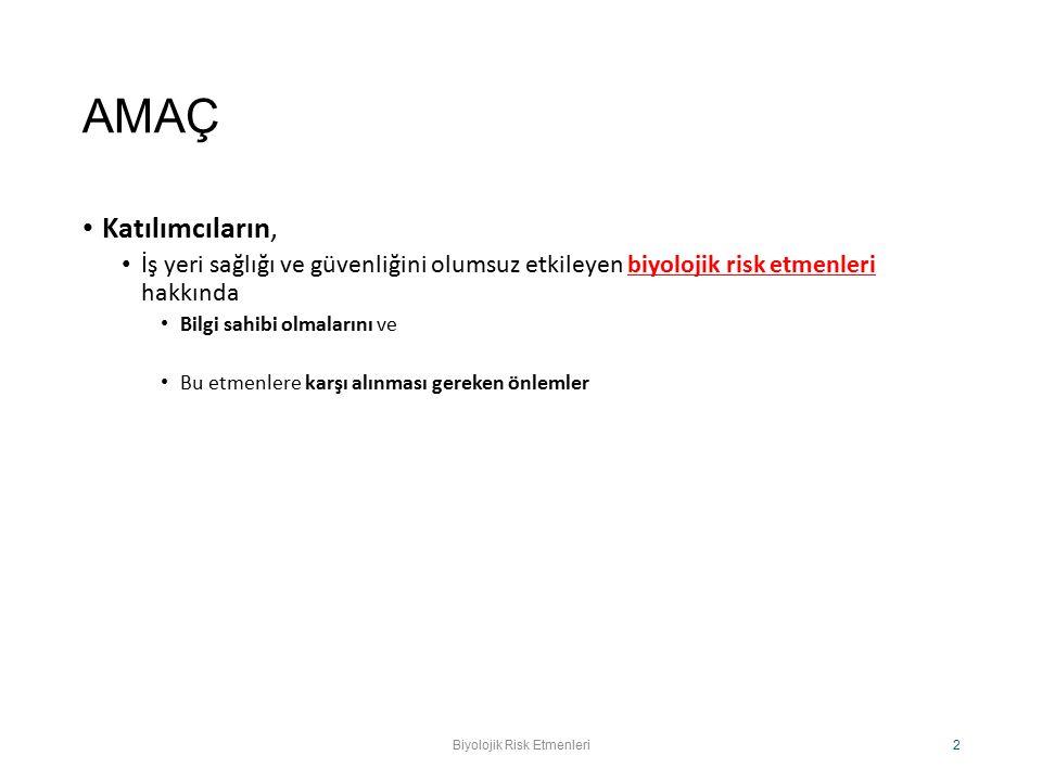 ÇALIŞMA BAKANLIĞINA BİLDİRİM GEREKEN VE GEREKMEYENLER Grup I ……………………..GEREKMEZ ====================================== GRUP II………………….GEREKİR GRUP III ………………….GEREKİR GRUP IV ………………….GEREKİR Biyolojik Risk Etmenleri.