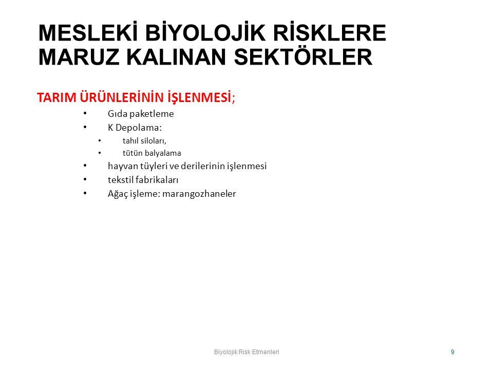 Biyolojik Risk Etmenleri.Prof. Dr. O.