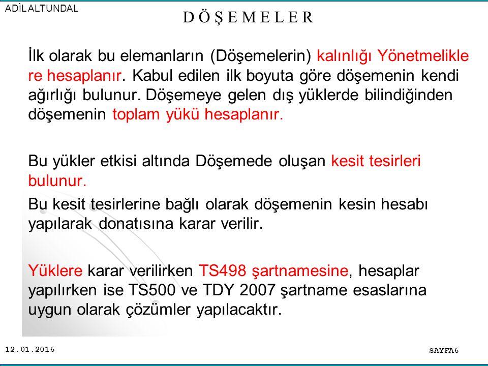12.01.2016 SAYFA17 ADİL ALTUNDAL Kaset (ızgara) kiriş döşeme: