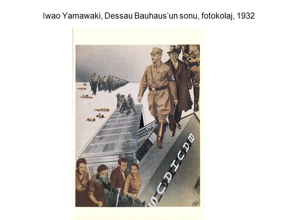 Iwao Yamawaki, Dessau Bauhaus'un sonu, fotokolaj, 1932