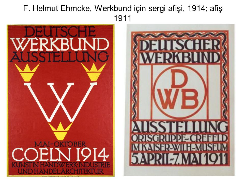F. Helmut Ehmcke, Werkbund için sergi afişi, 1914; afiş 1911