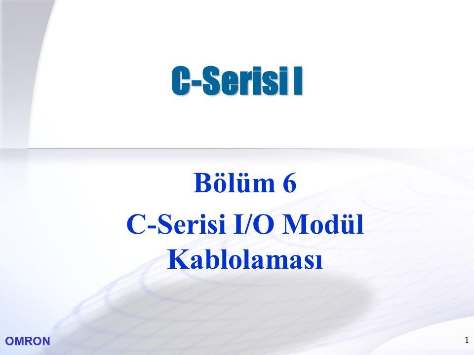 OMRON 1 C-Serisi I Bölüm 6 C-Serisi I/O Modül Kablolaması