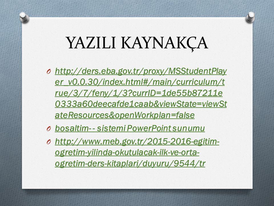 YAZILI KAYNAKÇA O http://ders.eba.gov.tr/proxy/MSStudentPlay er_v0.0.30/index.html#/main/curriculum/t rue/3/7/feny/1/3?currID=1de55b87211e 0333a60deec