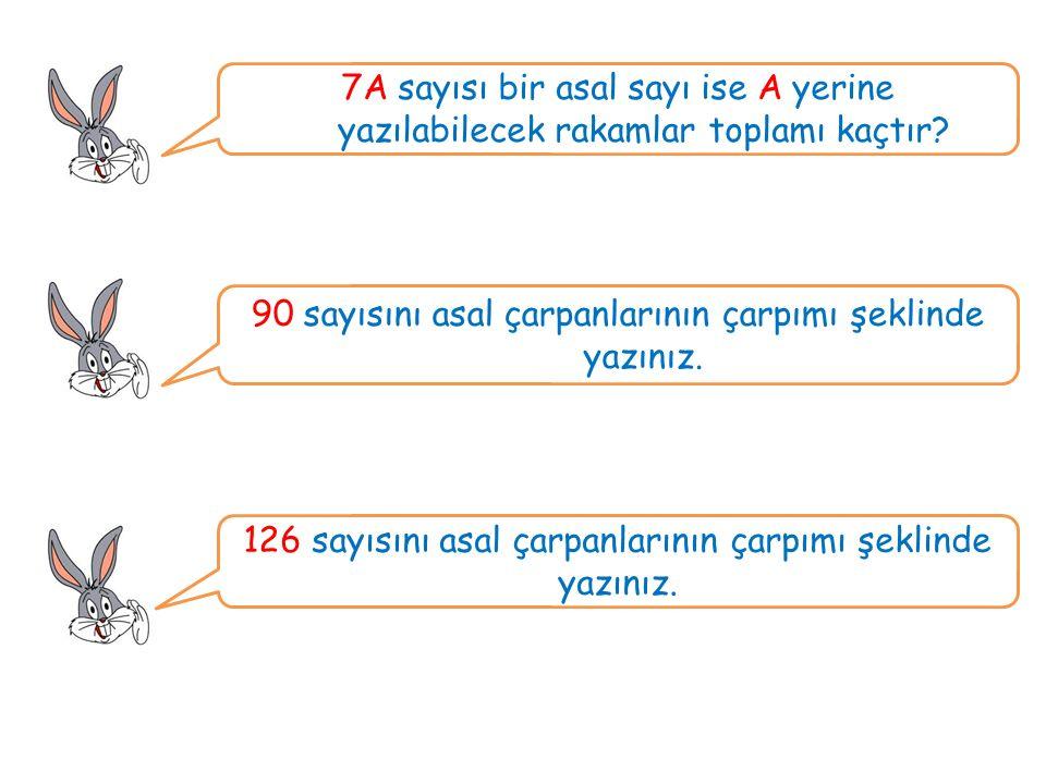 7A sayısı bir asal sayı ise A yerine yazılabilecek rakamlar toplamı kaçtır.