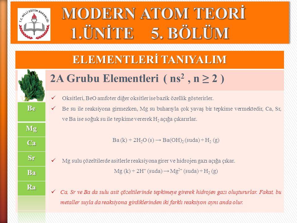 ELEMENTLERİ TANIYALIM Lantanitler ve Aktinitler( ns (n-2)f, n ≥ 5 ) Lantan (La) elementinde 6s orbitali dolduktan sonra yeni elektronun 4f orbitaline yerleşmesi gerekir.