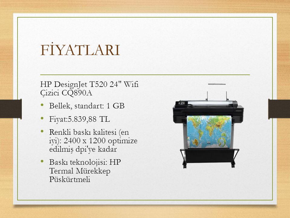 FİYATLARI HP DesignJet T520 24