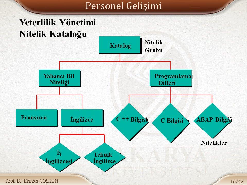 Prof. Dr. Erman COŞKUN Personel Gelişimi 16/42