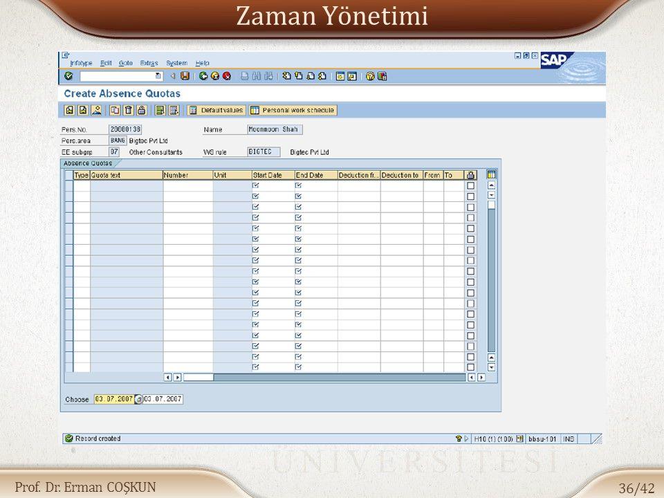 Prof. Dr. Erman COŞKUN Zaman Yönetimi 36/42