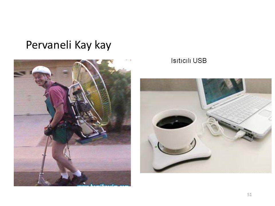 Pervaneli Kay kay Isıtıcılı USB 51