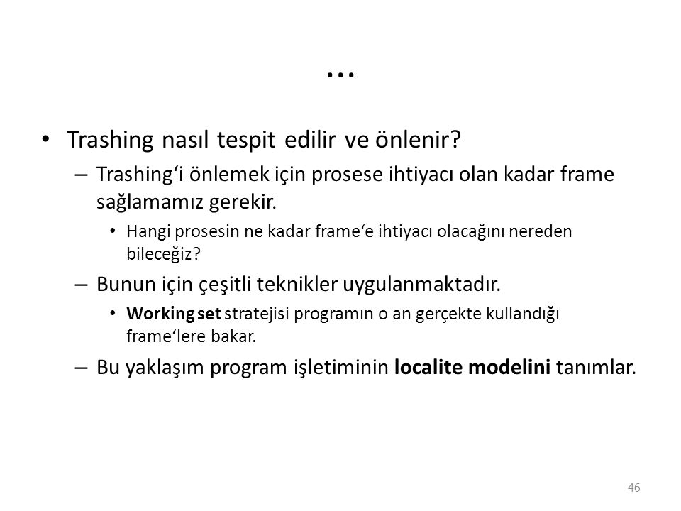 ...Trashing nasıl tespit edilir ve önlenir.