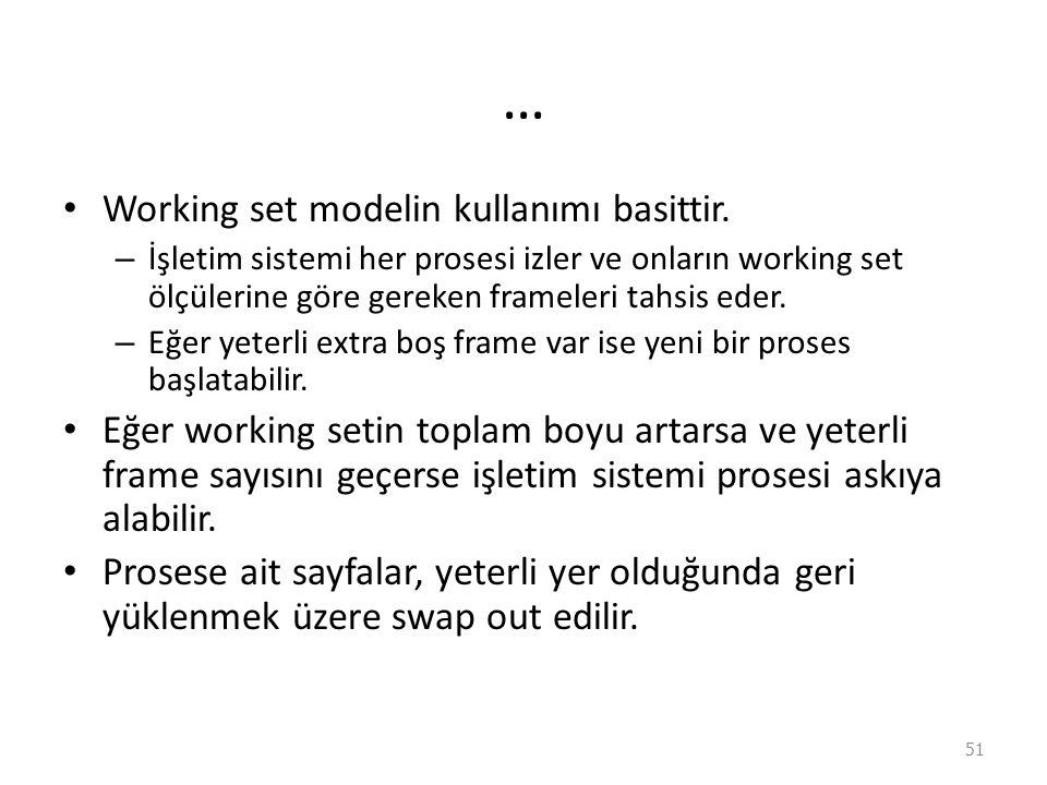 … Working set modelin kullanımı basittir.