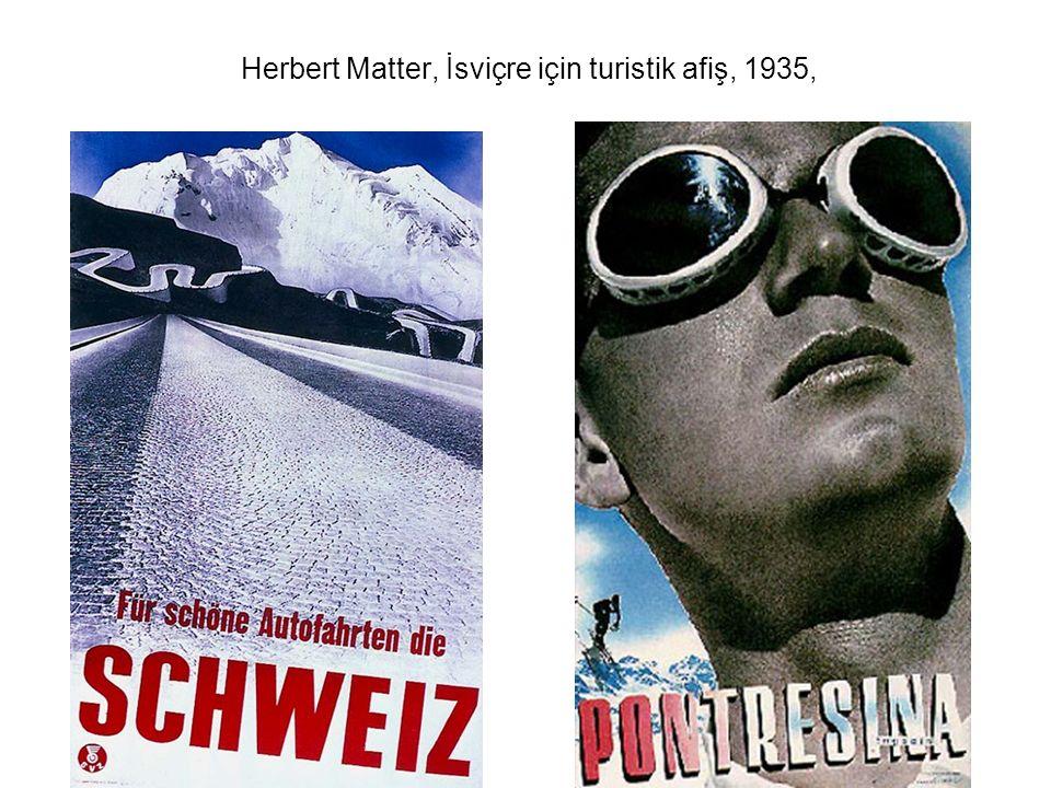 Herbert Matter, İsviçre için turistik afiş, 1935,
