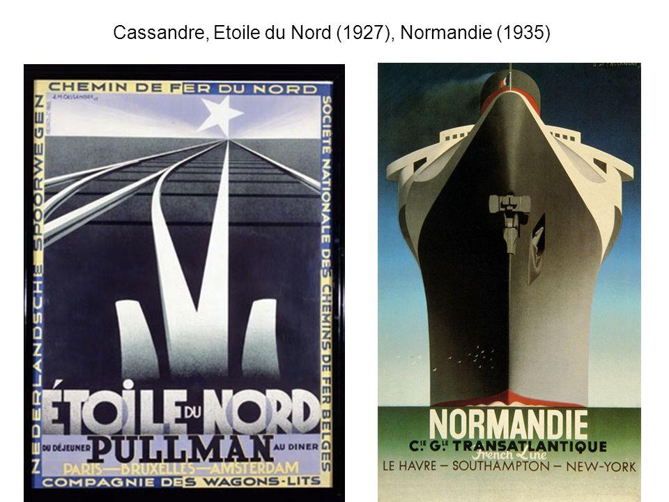 Cassandre, Etoile du Nord (1927), Normandie (1935)