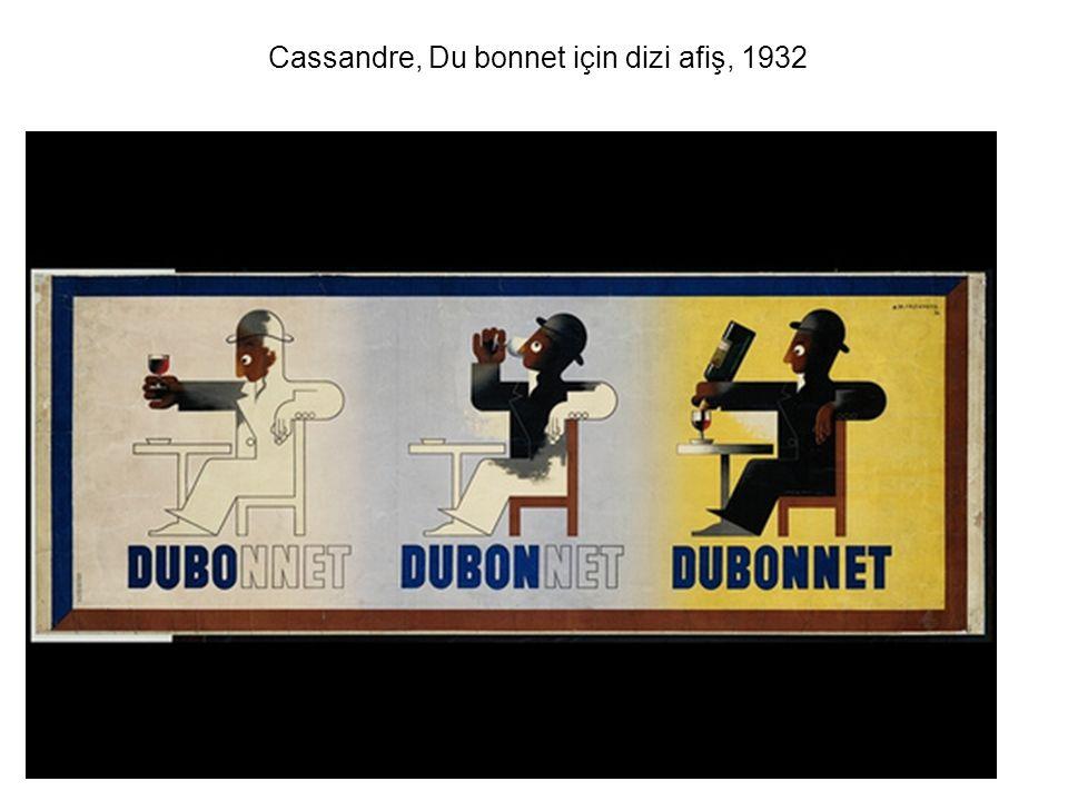 Cassandre, Du bonnet için dizi afiş, 1932