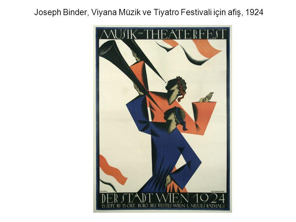 Joseph Binder, Viyana Müzik ve Tiyatro Festivali için afiş, 1924